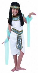 Girls Egyptian Queen Children Costume Book Week Fancy Dress Cleopatra Outfit UK