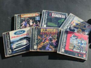 Playstation Video Game Lot - Cars, Baseball, Bowling, Rainbow 6, Basketball