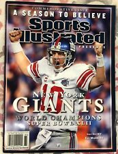 Lot of (2) Sports Illustrated New York Giants Eli Manning Newstand Issues