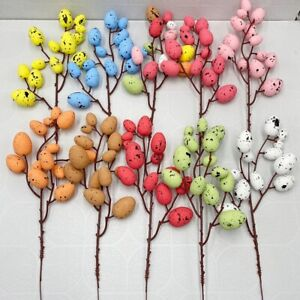 Home Decor DIY Painting Hanging Ornaments Eggs Tree Branches Easter Decoration P