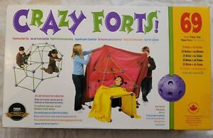 Crazy Forts! Complete Kit, STEM, 69 Pieces Fort Building Kit CF1
