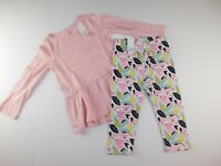 NWT Gap Toddler Girl's 2 Pc Outfit LS Pink Tunic/Leggings 3Yrs 4Yrs MSRP $30 New