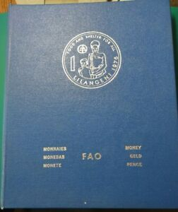 FAO 34-COIN COLLECTION BLUE ALBUM 4 PAGES 1975-76 INDIA 50 RUPEES LARGE SILVER