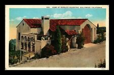DR JIM STAMPS US RUDOLPH VALENTINO HOME HOLLYWOOD CALIFORNIA POSTCARD