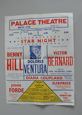 Benny Hill Palace Theatre Bath Poster early 1950s Diana Coupland,Dolores Ventura