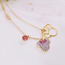 Swarovski Mickey & Minnie Pendant, Multi-colored, Gold tone plated Female