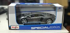 New Maisto Lamborghini Aventador LP700-4 1:24 Diecast Model Toy Car Met. Grey -