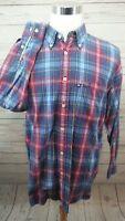 VTG Tommy Hilfiger Plaid L/S Button Shirt Men's Size Large