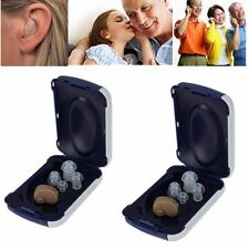 A Pair Mini Digital Invisible Sound Voice Amplifier Adjustable Tone Hearing Aids