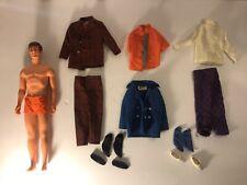Vintage Talking KEN (Barbie) Doll & Clothes VIP Scene & Sea Scene