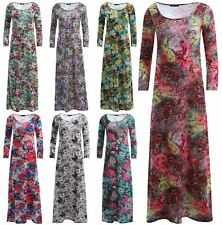 Plus Size Scoop Neck Casual Maxi Dresses for Women