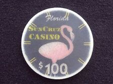 "$100 CASINO CHIP -- SUN CRUZ CASINO -- FLORIDA -- ""COLLECTIBLE"""