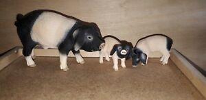 Schleich 13635 13636 13643 Pig Family | Retired Animal Figure