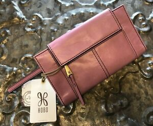 HOBO INTERNATIONAL~Pivot Wallet Clutch~100% VINTAGE LEATHER~LILAC SHADE~NWT!