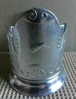 Vintage Russian Soviet podstakannik Satellite Sputnik tea glass holder USSR