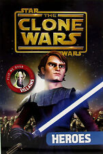 Star Wars: The Clone Wars  - Heroes & Villains flip book w/ poster NEW pb