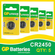 GP Lithium Button Battery CR2450 (DL2450) card of 5 [WATCH & CALCULATOR + OTHER]
