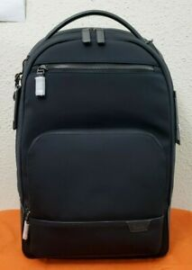 New $450 Tumi Harrison Warren Black Nylon Tricot Leather Trim Men's Backpack