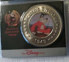 Disney Decade Coin Pluto Sweater #11 1949/Coin, Card, Sleeve/New