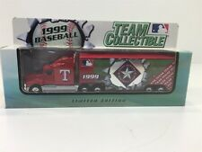 1999 Texas Rangers Baseball Limited Edition Semi Truck Trailer White Rose Nib