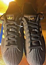 Adidas classic superstar size 13 men,brown/tan strips,suede leather