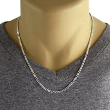 Mens Stainless Steel Silver  Curb Necklace Chain 50cm Long 4mm Wide Gift