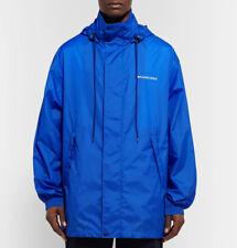 BALENCIAGA Classic Windbreaker Coat Jacket Cobalt Blue Size Large L  —  $1,150