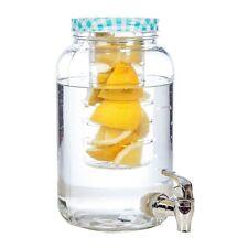 Getränkespender mit Zapfhahn Glas 3 Liter mit Fruchteinsatz Saftspender Cocktail