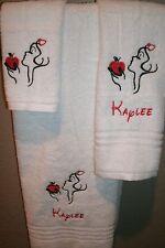 Snow White Sketch Personalized 3 Piece Bath Towel Set