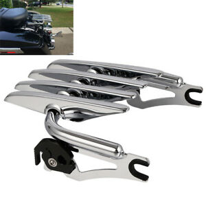 Chrome Detachable Stealth Luggage Rack For Harley Electra Street Glide 2009-2021