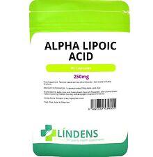 El ácido alfa lipoico 250mg 180 cápsulas Lindens antioxidante de gran alcance