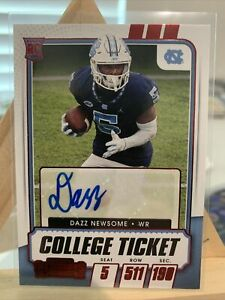 2021 Panini Contenders Draft Picks Dazz Newsome Red Foil Auto Rookie Card #139
