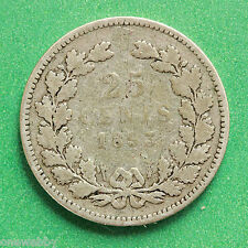 1893 Netherlands Silver 25 cents SNo40346