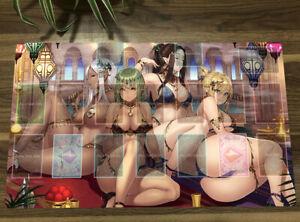 Original Anime Girls Playmat TCG CCG Mat Trading Card Game Yugioh Play Mat +Bag