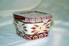 Temptations 2019 Old World Cranberry Square Ramekin With Plastic Storage Cover