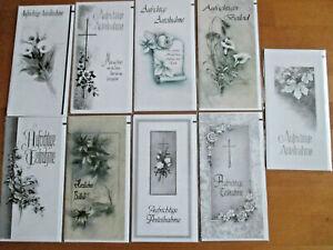 Trauerkarten - Beileidskarten - Kondolenzkarten - NEU - 81-1170