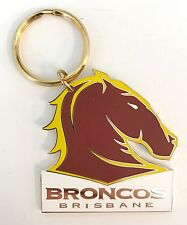 33032 BRISBANE BRONCOS NRL METAL TEAM LOGO KEY RING KEYRING CHAIN