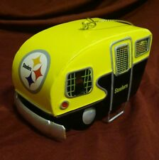 """Pittsburgh Steelers Team Camper Ornament Trailer - NFL 2 1/4"""" tall 4"""" long"""