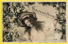 cpa Dos 1900 Fantaisie BONNE ANNÉE 1905 à Jeanne CHAMPION à La Vrainière (Orne)