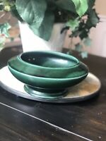 Vintage Hull Pottery Pedestal Planter Pot Candy Dish Green USA F478