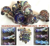 Hand Made Smoking Glass Pipes Tobacco Cigarette Bubbler Tube High Quality Nepal