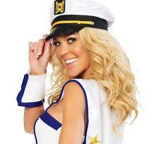 Fashion Yacht Captain Skipper Sailor Boat Ship Hat Cap Costume Party WHITE LG