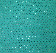 Pixie by Ink & Arrow BTY Tiny Irregular Square Polka Dot Blender Black Ecru Teal