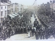 More details for unknown market town real photo postcard funeral coronation ceremony help to id