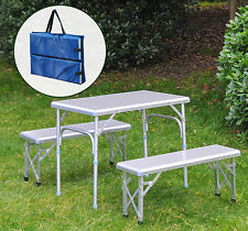 Aluminum Folding Picnic Table Bench Seat Portable Outdoor Camping Dining w/Bag