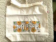 Japan MIFFY eco bag floral pattern vertical 14in 35cm horizontal 15in 38cm