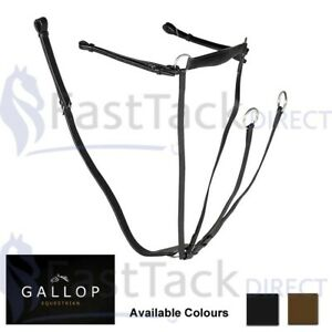 BREASTPLATE MARTINGALE | Gallop Leather Hunting | Adjustable Neck PONY COB FULL