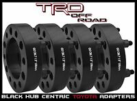 """4 PC TOYOTA 1.5"""" THICK BLACK HUB CENTRIC WHEEL SPACERS ADAPTERS 6X139 OR 6X5.5"""