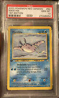 GEM MINT 2000 Pokemon Mantine Neo Genesis 1st Edition #64 PSA 10 Non Holo Base