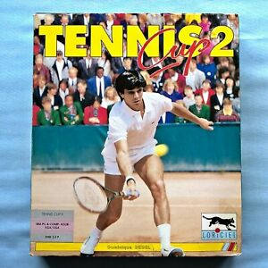 "Tennis Cup II - PC DOS Game from 1992 - rare big box game - 3.5"" floppy disks"